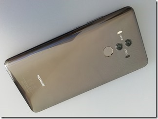 「HUAWEI Mate 10 Pro」の背面